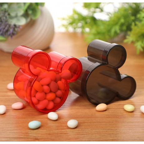 Contenant dragée boite candy box Mickey 3d Rouge