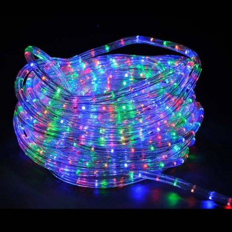 guirlande tube lumineux led 10 m tres multicolore decoration noel badaboum. Black Bedroom Furniture Sets. Home Design Ideas