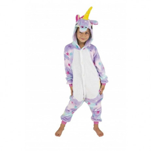 Costume Kigurumi Licorne Avec Étoiles Enfant T 4-6 Ans