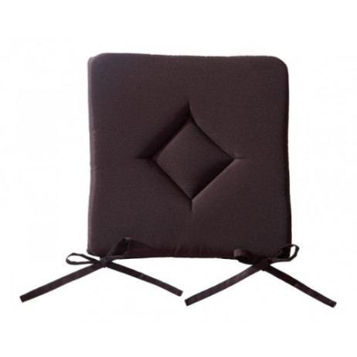 Coussin de chaise pas cher Chocolat 40 x 40 cm