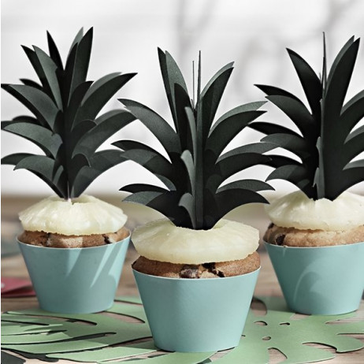 Cupcake Aloha Bleu Ciel