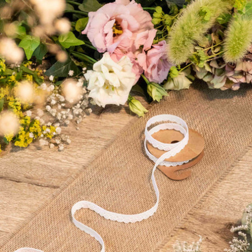 Masking tape dentelle adhesive blanche