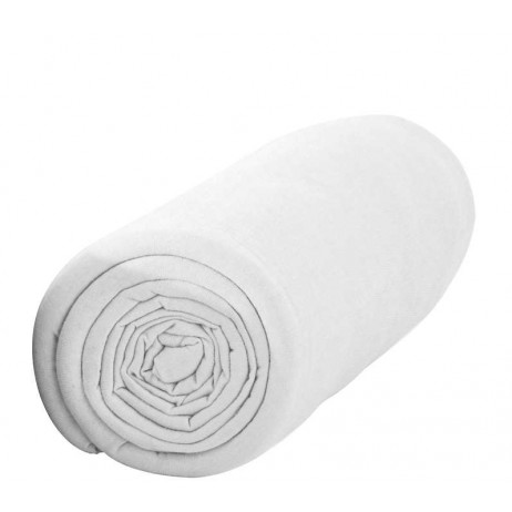 Drap housse Jersey Blanc 140x190cm