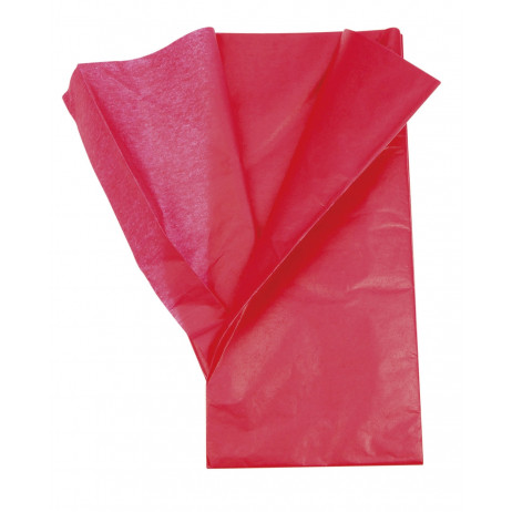 Feuille de papier de soie Rouge x 5 pièces