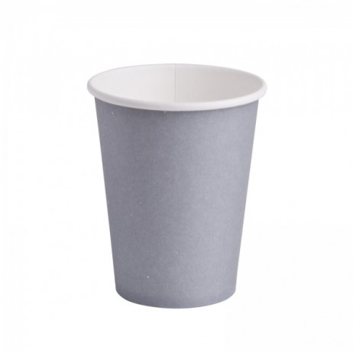gobelet jetable pas cher couleur gris en carton vaisselle mariage badaboum. Black Bedroom Furniture Sets. Home Design Ideas