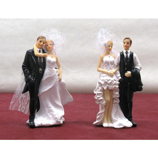 Grand couple de mariés assortis 15cm