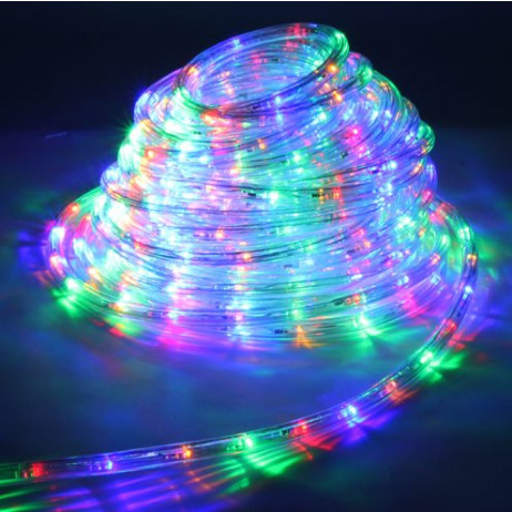 Guirlande LED en tube multicolore 18 mètres