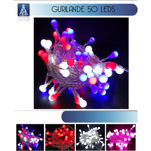 Guirlande Lumineuse de Noel 50 LED pas cher