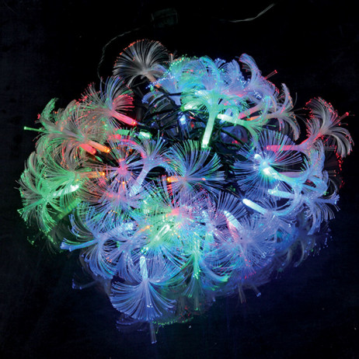 Guirlande lumineuse fibre optique 40 LED Multicolore