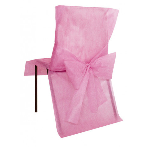 Housse de chaise mariage Rose