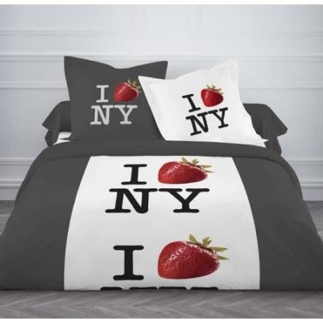 Housse de couette New York Strawberry 220x240cm