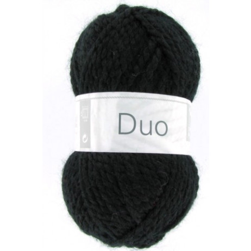Laine à tricoter Noire Duo de Cheval Blanc