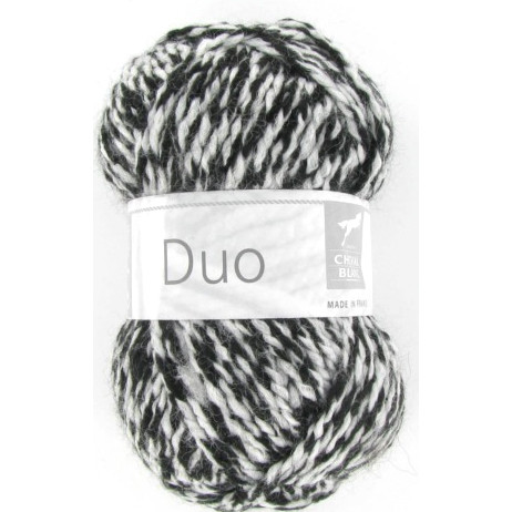 Fil tricot Cheval Blanc DUO Bicolore Noir et Blanc