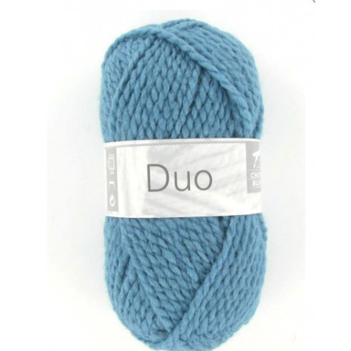Fil à tricoter Cheval Blanc Duo Bleu Azur