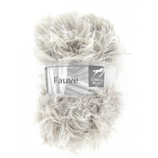 Laine à tricoter Fauve Flanelle aspect fourrure
