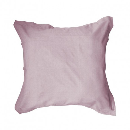 Taie d'oreiller carrée Poudre de Lila 100% coton