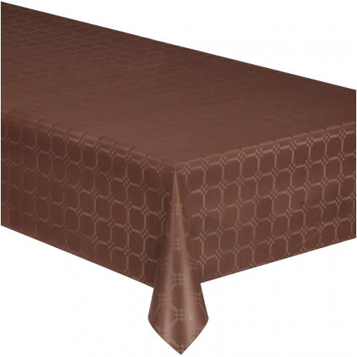 Nappe en papier damassé Chocolat 25 mètres
