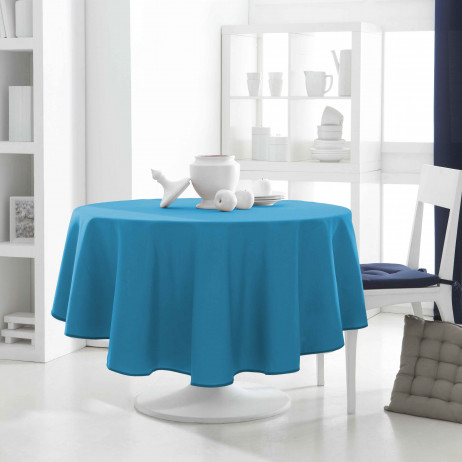 nappe pour table ronde bleu turquoise nappe ronde 180 cm pas cher. Black Bedroom Furniture Sets. Home Design Ideas