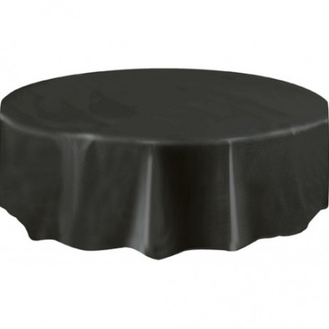 nappe ronde en plastique noire 210cm nappe pas cher badaboum. Black Bedroom Furniture Sets. Home Design Ideas