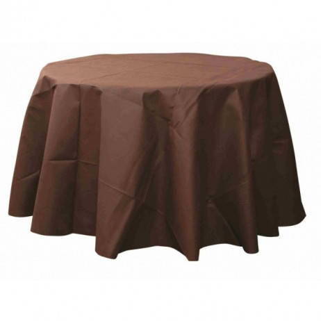 nappe ronde jetable 240 cm chocolat nappe mariage badaboum. Black Bedroom Furniture Sets. Home Design Ideas