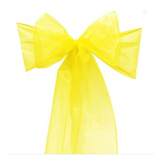 Noeud de chaise organza jaune pas cher