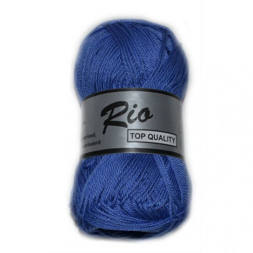 Coton à tricoter Rio de Lammy Bleu Océan
