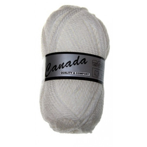 Pelote de laine Canada Lammy Yarns Blanche