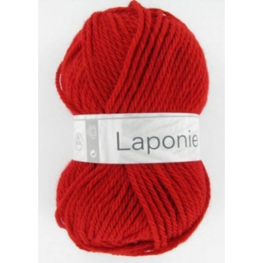 pelote de fil à tricoter pas cher Laponie Rouge Cheval Blanc