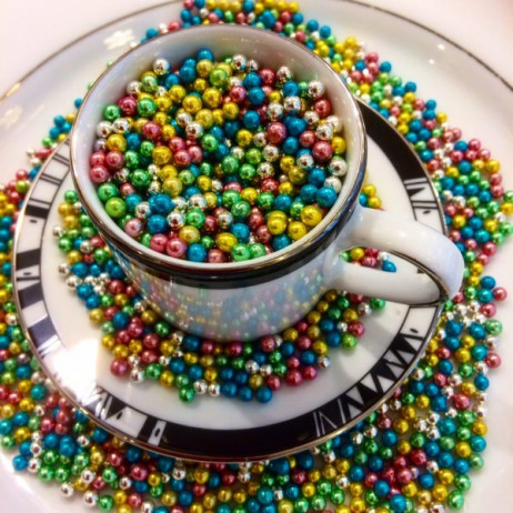 Perles Dragees Multicolore 4 mm