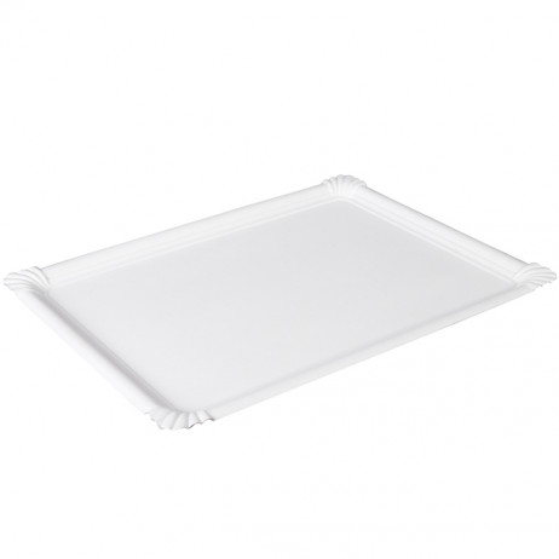 bas prix 38adf e9984 Plateau en carton Blanc 34 x 45 cm x 3 pièces