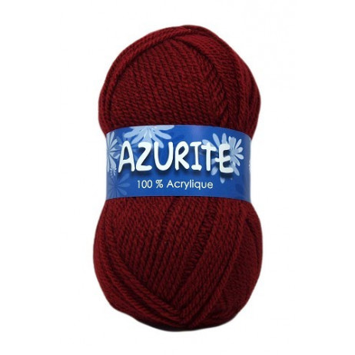 Pelote de laine Azurite Acrylique Bordeaux
