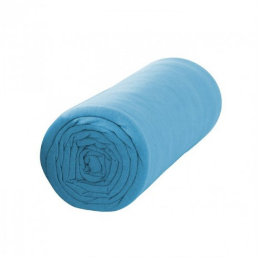 drap housse 160x200 cm turquoise 100 coton drap housse. Black Bedroom Furniture Sets. Home Design Ideas