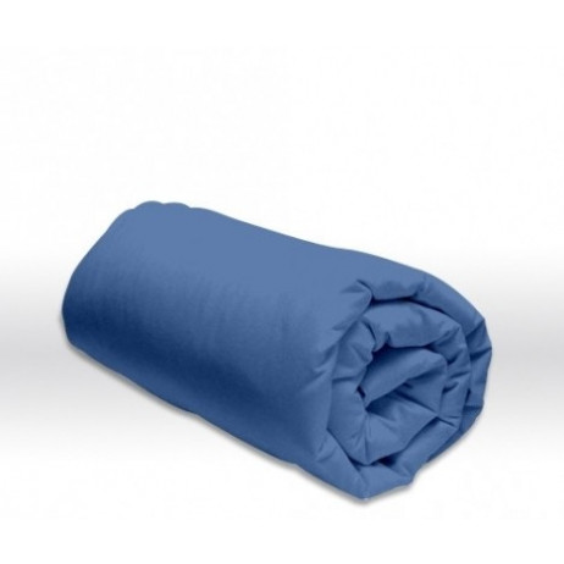 Drap housse 180x200 cm Bleu roi 100% coton