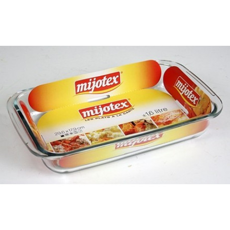 Plat rectangle 1,6 L