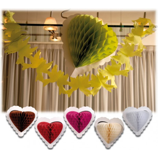 Coeur à Suspendre pas cher pour Décoration salle mariage