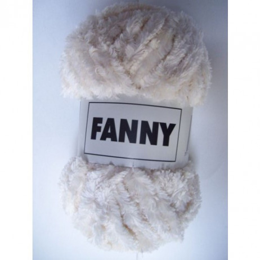 Pelote de laine chenille Fanny Ecru x3