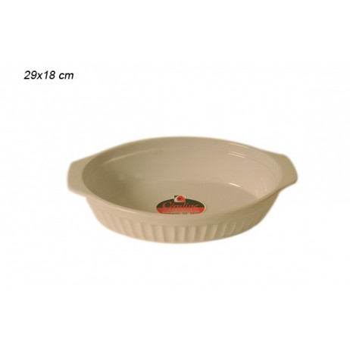 Plat à four ovale blanc 29.8x18.5cm