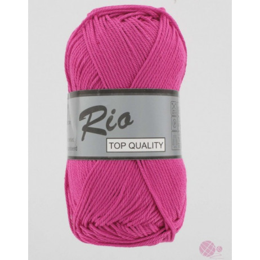 Coton à tricoter Rio de Lammy Fushia