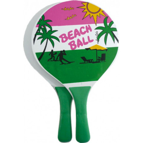 Set de 2 Raquettes de Beach Ball + balle