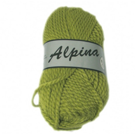 Pelote de laine Alpina Lammy Vert Anis