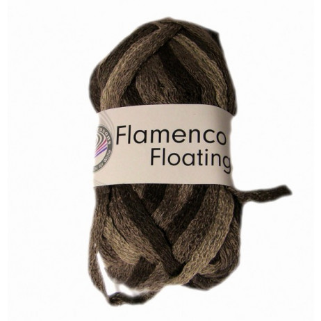 10 Pelotes de fil à tricoter Flamenco Floating Chocolat