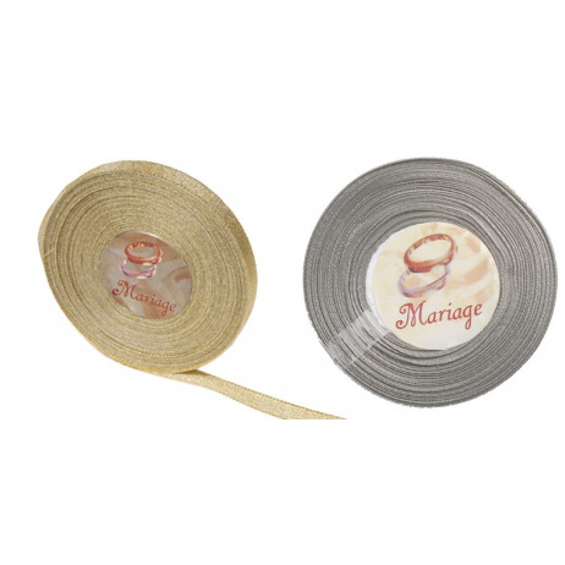 Ruban mariage Lame Brillant 25M x10 mm