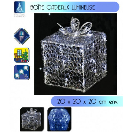 Boite Cadeau lumineuse 32 LEDS