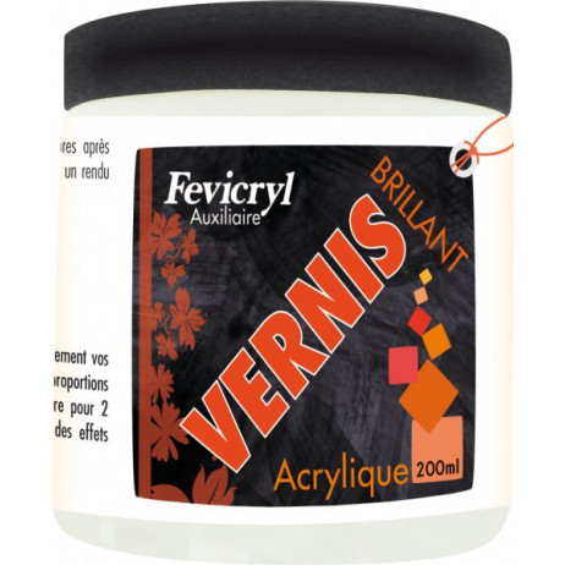 Vernis acrylique brillant pot de 200ml