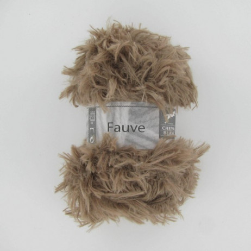 Fil à tricoter Cheval Fauve Marron