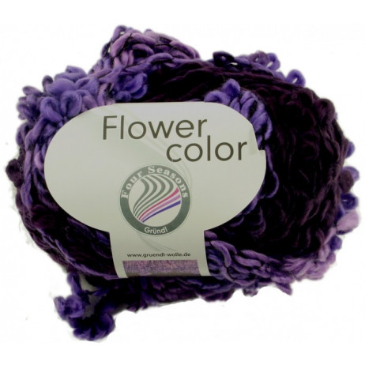 Pelote de laine Flower Color Grundl Multi Violet