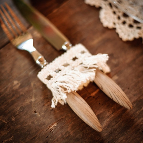 Ruban de franges macames ivoire 50mm