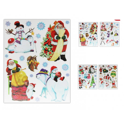 Sticker De Noel Moderne Finition Pailleté