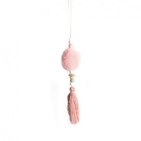 Suspension mariage pompons Rose