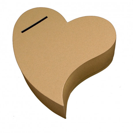 Urne mariage coeur or